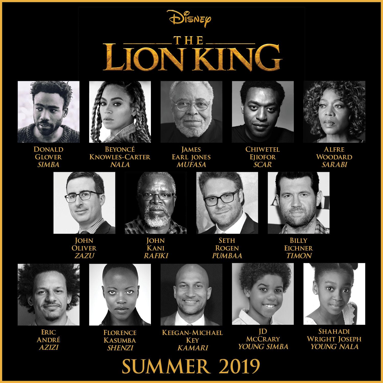 Com Beyoncé de Nala, live-action de O Rei Leão tem elenco divulgado