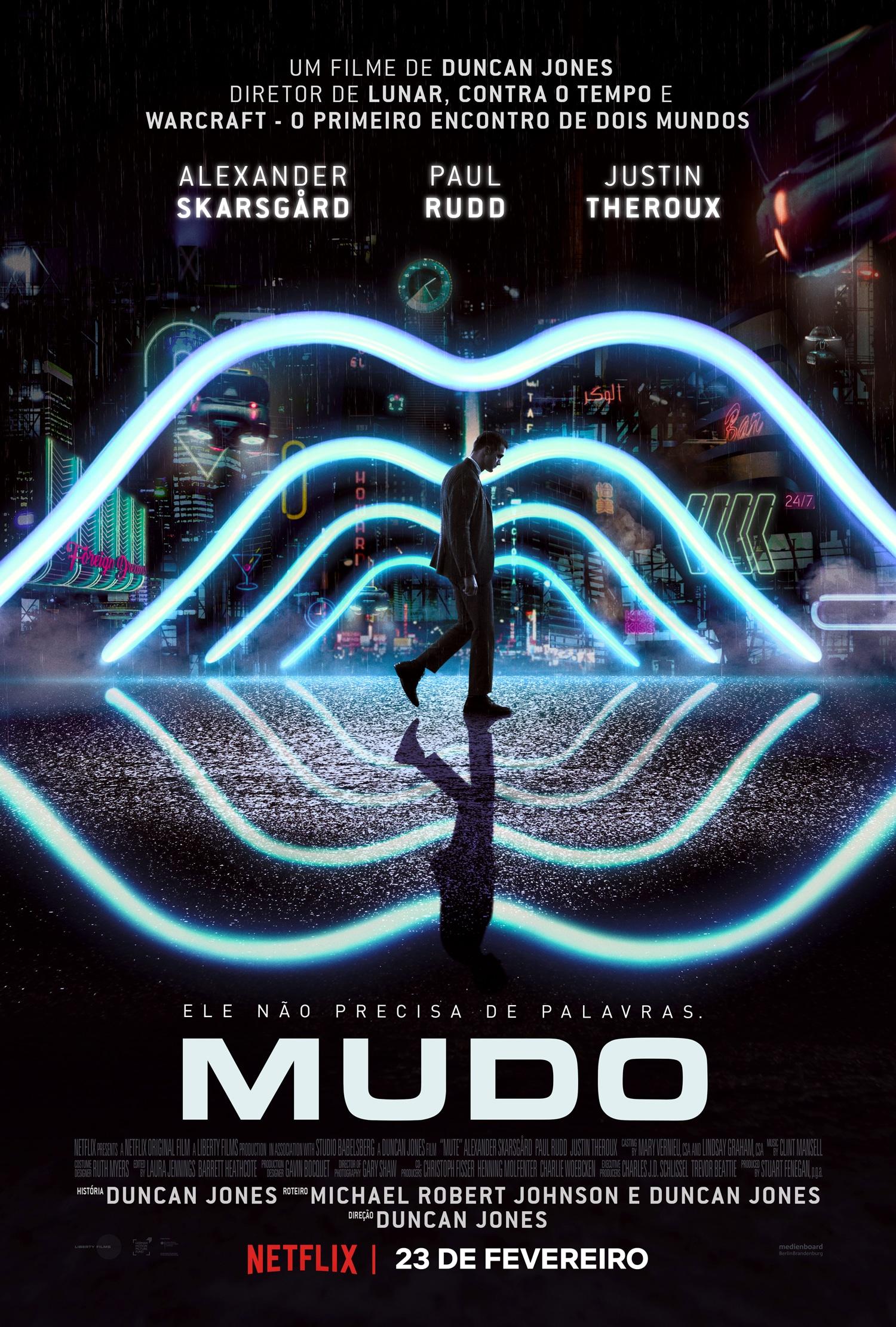 """Quer mais cyberpunk na Netflix? Veja o trailer do filme """"MUDO""""!"""